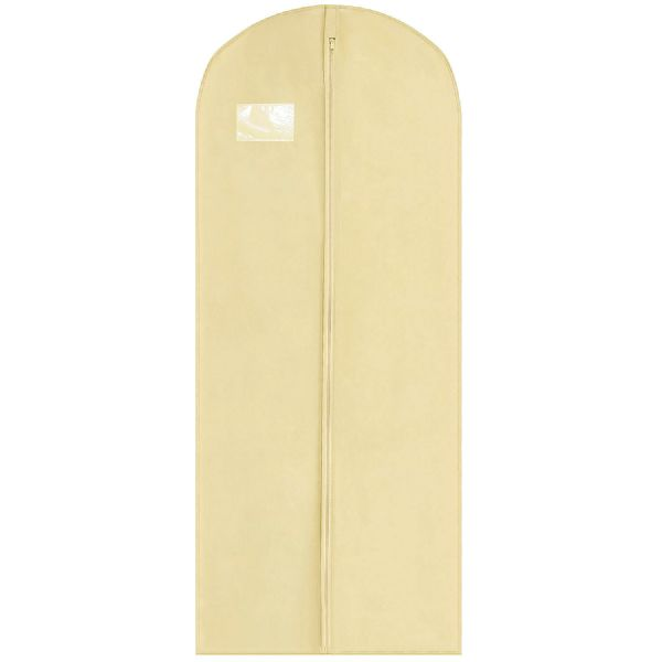 Cream Thick Long Coat Gown & Dress Cover / Carrier
